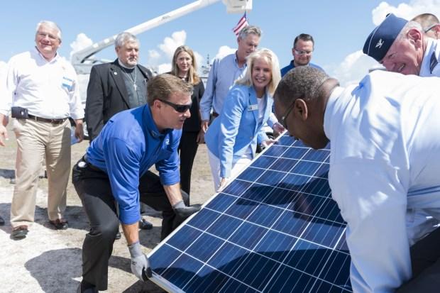 FPL installs first of 1 million new Treasure Coast solar panels as