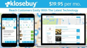 All businesses receive instantly both a web and mobile app presence the moment they subscribe. With unlimited digital marketing and an optional loyalty program, engaging local consumers and customers has never been easier or more affordable. (PRNewsfoto/Klosebuy Inc.)