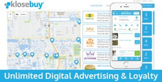 Businesses who subscribe to Klosebuy have their business geo-located, auto-build a customer database, receive instant analytics on their advertisements, engage customers through push messages and emails, create loyalty rewards, and much more. All for only $19.95 per month. (PRNewsfoto/Klosebuy Inc.)