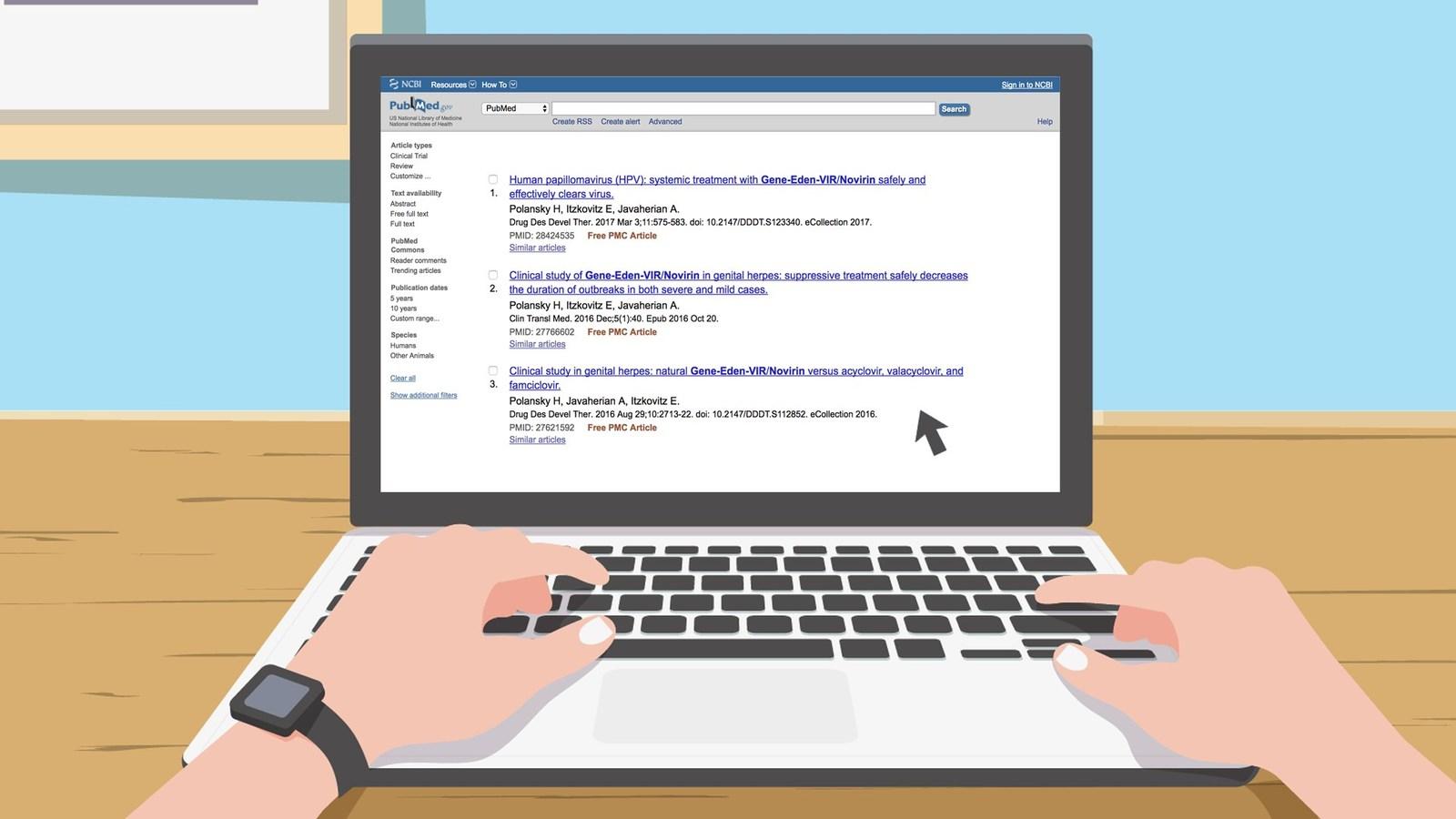 Lilac Corp – Gene-Eden-VIR-Novirin clinical studies listed onPubMed