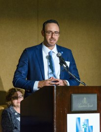DDF Vice President Michael Ehren accepting the Excellence in Healthcare Program Award at the 2017 Greater Fort Lauderdale Chamber of Commerce Excellence in Healthcare Awards Luncheon (PRNewsfoto/Debbie's Dream Foundation: Curi)
