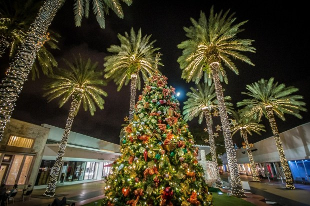 Miami Beach  Christmas at Lincoln Road Mall