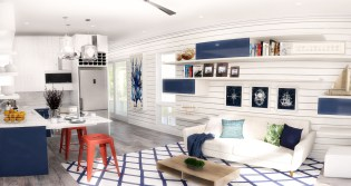 The Hunters Point nautical interior design concept, one of four concepts residents will choose from. (PRNewsfoto/Hunters Point Resort & Marina)