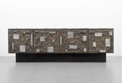 Monumental Paul Evans/Directional cabinet, bronzed resin, slate, wood, lacquered steel; $23,040. Palm Beach Modern Auctions image (PRNewsfoto/Palm Beach Modern Auctions)