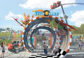 """The Great LEGO Race will transform the existing """"Project X"""" roller coaster at LEGOLAND Florida Resort into an exciting, high-octane experience that puts kids in the driver's seat and asks, """"Are you brave enough to face, race and beat the best of the best in all of LEGO world?"""" Opening Spring 2018 at LEGOLAND Florida Resort in Winter Haven, Fla."""