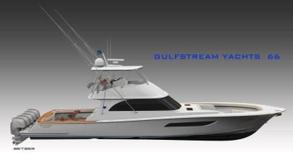 Gulfstream Yachts 66 Flybridge Model (PRNewsfoto/Gulfstream Yachts)
