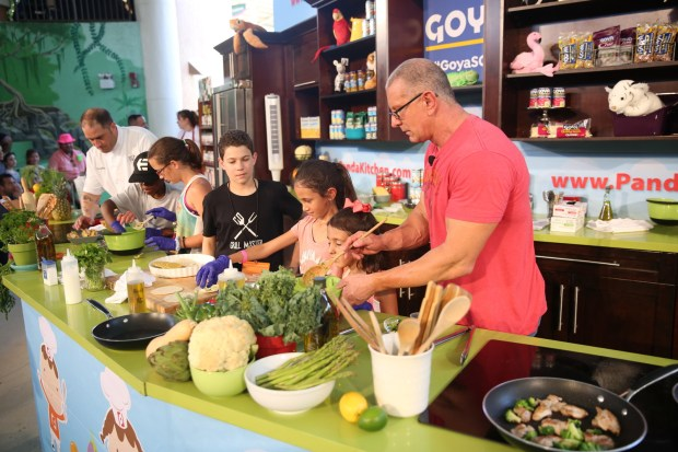 Food network cooking channel south beach wine food festival to this years line up of talent will demonstrate their favorite kid friendly recipes in the goya foods kidz kitchen on a set courtesy of panda kitchen in the forumfinder Choice Image