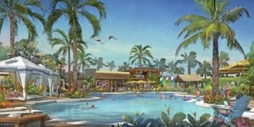 LATITUDE MARGARITAVILLE Daytona Beach Pool Rendering (Rendering Credit: The McBride Company (PRNewsfoto/Margaritaville)
