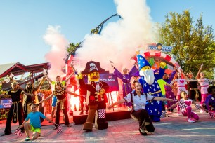 A spectacular grand opening ceremony celebrated the debut of The Great LEGO Race at LEGOLAND Florida Resort on March 23 in Winter Haven, Fla. The innovative attraction is the world's first virtual reality roller coaster experience built for kids. (PRNewsfoto/LEGOLAND Florida Resort)