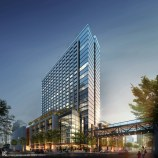 The 519-room JW Marriott hotel that will open in 2020 will mark the luxury brand's debut in the Tampa Bay region. The hotel also represents the first of 10 buildings that SPP, the developer behind the Water Street Tampa neighborhood, plans to begin building over the next year. (PRNewsfoto/Strategic Property Partners)