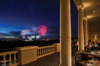 Capa, the resort's award-winning rooftop restaurant, includes views of the nightly Magic Kingdom Park fireworks. (PRNewsfoto/Four Seasons Resort Orlando)
