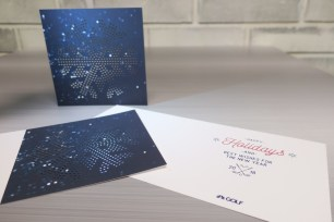 The Golf Channel, Foil and Embossing Holiday Card 2017 (PRNewsfoto/SunDance)