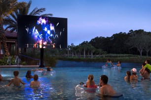 Enjoy twice-weekly Dive In Movies at the Explorer Pool. (PRNewsfoto/Four Seasons Resort Orlando)
