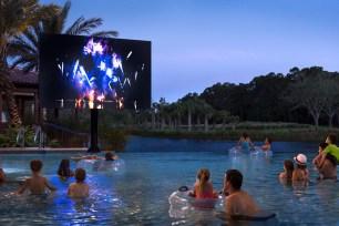 Enjoy twice-weekly Dive In Movies at the Explorer Pool. (PRNewsfoto/Four Seasons Resort Orlando)