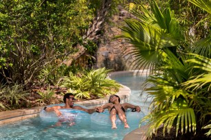 Relax in the winding lazy river, pictured. (PRNewsfoto/Four Seasons Resort Orlando)