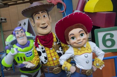 "Buzz Lightyear, Sheriff Woody and Jessie the Yodeling Cowgirl from Disney•Pixar's ""Toy Story"" films will interact with guests in the new Toy Story Land when it opens June 30 at Disney's Hollywood Studios. (photo courtesy of Walt Disney World) (PRNewsfoto/Visit Orlando)"