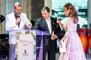 Carlos Ponce, Javier Polit & Karla Monroig at 16 FedEx St. Jude Angels & Stars gala (PRNewsfoto/ALSAC / St. Jude Children's Res)
