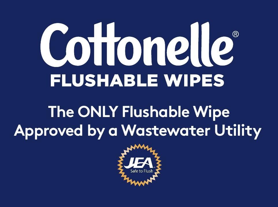Cottonelle Flushable Wipes Endorsed ByJEA