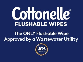 Together Kimberly-Clark and JEA are launching a new campaign intended to remind residents of what not to flush, and importantly, that flushable wipes – specifically Cottonelle® flushable wipes – are a solution to the problems related to non-flushable wipes in their sewers.