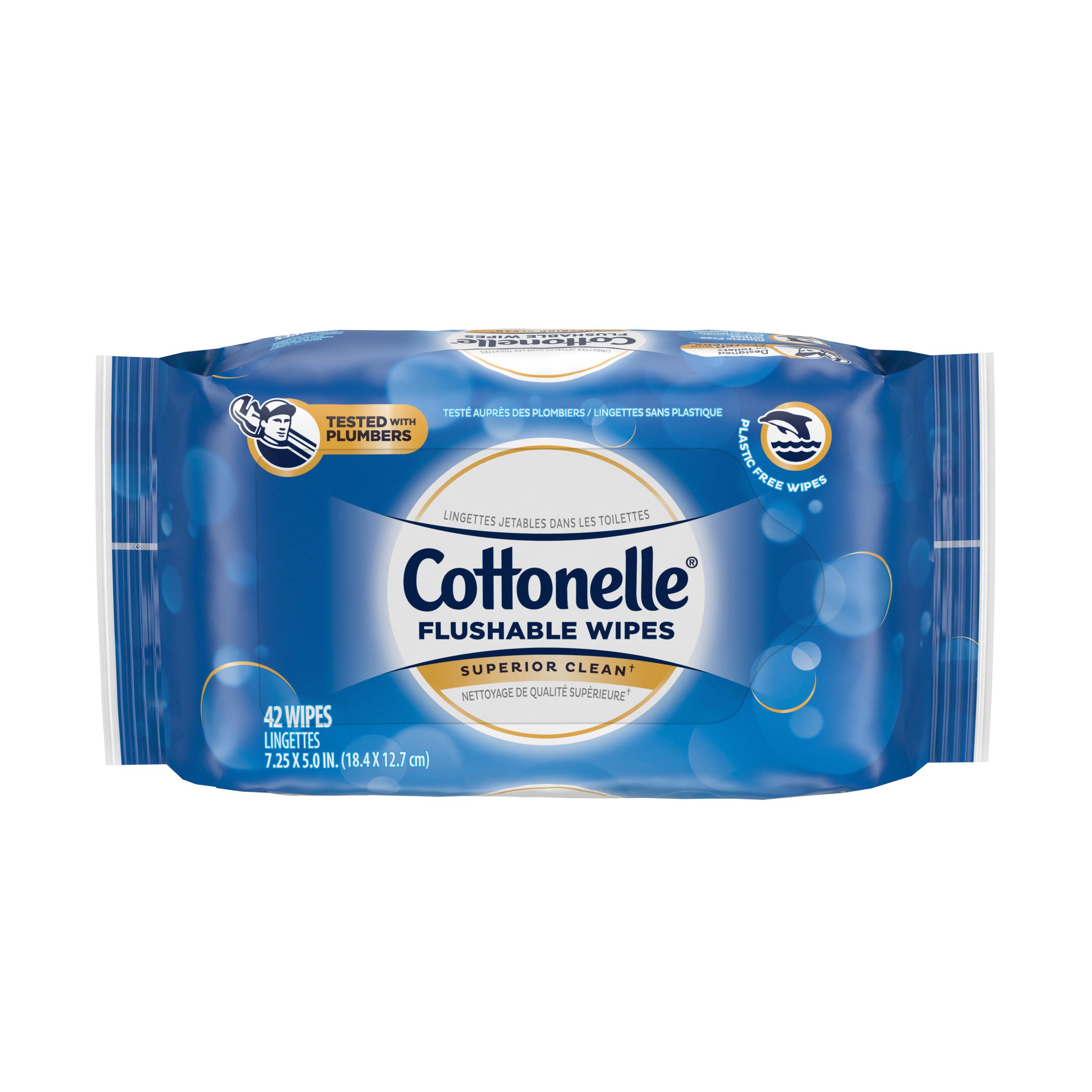 Cottonelle Flushable Wipes42ct