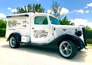 Karmic Ice Cream's 1935 Hot Rod Ice Cream truck makes its debut in South Florida